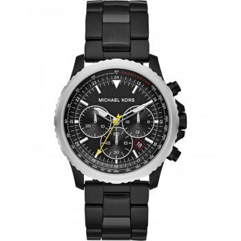 MICHAEL KORS Theroux Mens Chronograph - MK8643,  Black case with Stainless Steel Bracelet