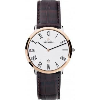 MICHEL HERBELIN Citadines - MH19515-TR01MA, Rose Gold case with Brown Leather Strap