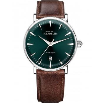 MICHEL HERBELIN Inspiration Automatic  - MH1647-AP16BR, Silver case with Brown Leather Strap