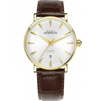 MICHEL HERBELIN Inspiration Automatic  - MH1647-P11MA, Gold case with Brown Leather Strap