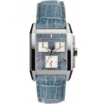 MICHEL HERBELIN Kharga  - MH 34472-20BL, Silver case with Light Blue Leather Strap