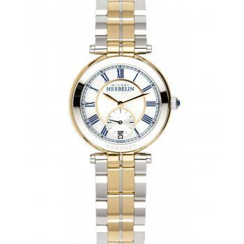 MICHEL HERBELIN Newport Classic - MH18384-BTR29, Gold case with Stainless Steel Bracelet