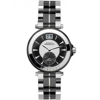 MICHEL HERBELIN Newport - MH18266ΒNA Silver Case with Silver-Black Bracelet