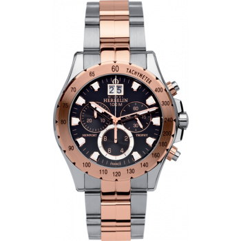 MICHEL HERBELIN Newport - MH366670BTR14 Silver-Rosegold Case with Silver-Rosegold Bracelet
