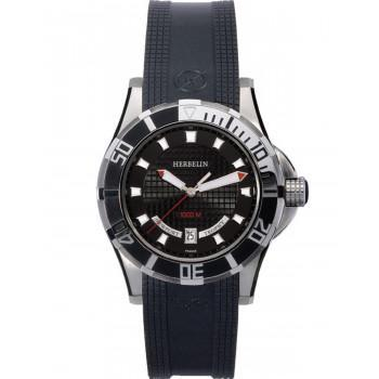 MICHEL HERBELIN Newport Trophy - MH12290-C14, Silver case with Black Rubber Strap