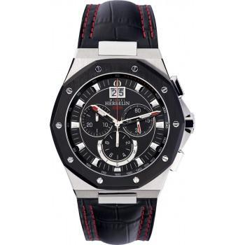 MICHEL HERBELIN Odyssee - MH36635AN14 Silver case, with Black Leather Strap