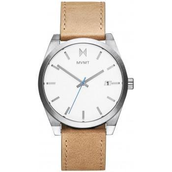 MVMT Classic  - 2800040-D,  Silver case with Brown Leather Strap