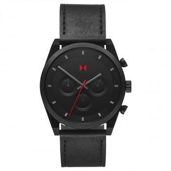 MVMT Emper Chrono  - 2800045-D,  Black case with Black Leather Strap