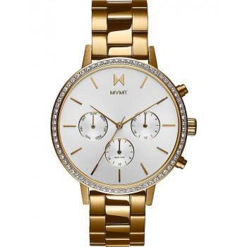 MVMT Ladies Crystals - 28000134,  Gold case with Stainless Steel Bracelet