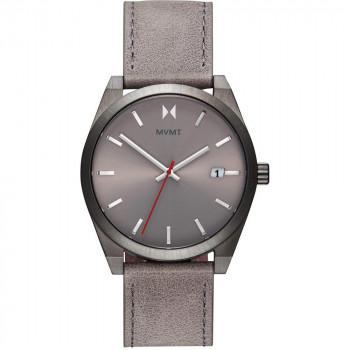 MVMT Mens - 28000042-D,  Grey case with  Grey Leather Strap