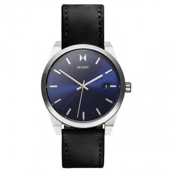 MVMT Nitro - 2800041-D,  Silver case with Black Leather Strap