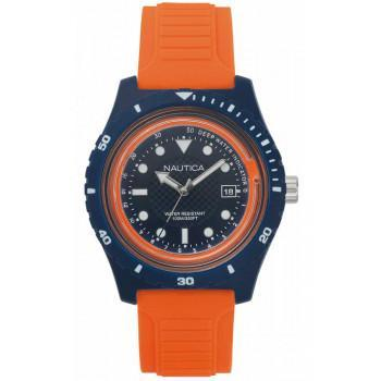 NAUTICA IBIZA - NAPIBZ004, Stainless Steel case with Orange Rubber Strap