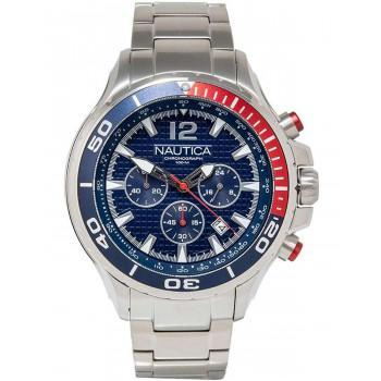 NAUTICA NST Chronograph  - NAPNSTF13, Silver case with Stainless Steel Bracelet