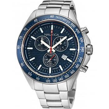 NAUTICA Ocean Beach  - NAPOBS113, Silver case with Stainless Steel Bracelet