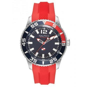 NAUTICA PACIFIC BEACH -  NAPPBP903  Silver case with Red Rubber Strap