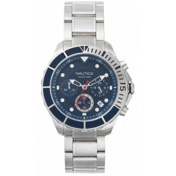 NAUTICA Puerto Rico Chronograph- NAPPTR004, Silver case with Stainless Steel Bracelet
