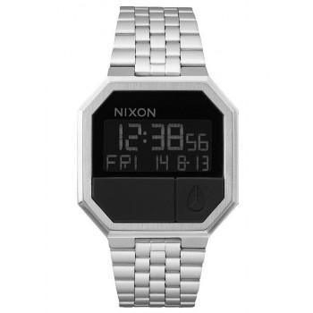 NIXON Re-Run - A158-000-00  Silver case  with Stainless Steel Bracelet