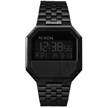 NIXON Re-Run - A158-001-00  Black case  with Stainless Steel Bracelet