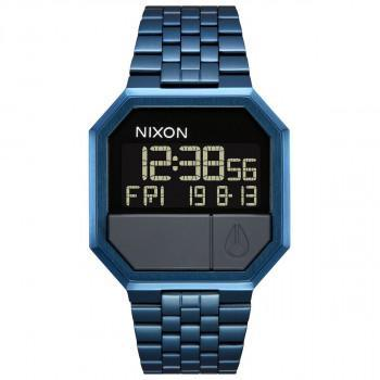 NIXON Re-Run - A158-300-00 Blue case with Stainless Steel Bracelet