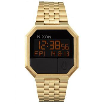 NIXON Re-Run  - A158-502-00  Gold case  with Stainless Steel Bracelet