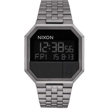 NIXON Re-Run - A158-632-00  Gray case with Stainless Steel Bracelet