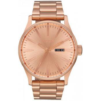 NIXON Sentry - A356-897-00 , Rose Gold case  with Stainless Steel Bracelet