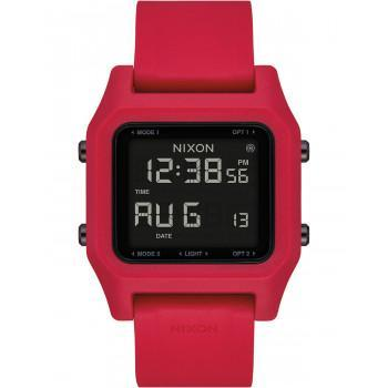 NIXON The Staple - A1309-200-00 , Red case with Red Rubber Strap