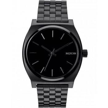 NIXON Time Teller - A045-001-00 , Black  case  with Stainless Steel Bracelet