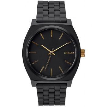NIXON Time Teller - A045-1041-00 , Black  case  with Stainless Steel Bracelet