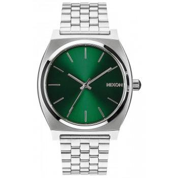 NIXON Time Teller - A045-1696-00 , Silver case  with Stainless Steel Bracelet