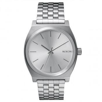 NIXON Time Teller - A045-1920-00,  Silver case  with Stainless Steel Bracelet