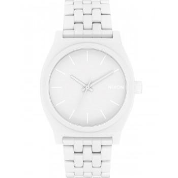 NIXON Time Teller - A045-1931-00,  White case  with Stainless Steel Bracelet
