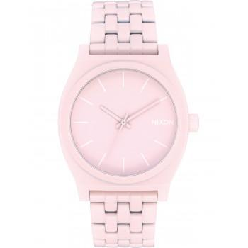 NIXON Time Teller - A045-3164-00,  Pink case  with Stainless Steel Bracelet