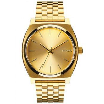 NIXON Time Teller - A045-511-00 , Gold case  with Stainless Steel Bracelet
