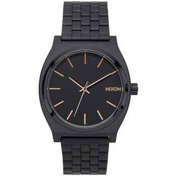 NIXON Time Teller - A045-957-00 , Black  case  with Stainless Steel Bracelet
