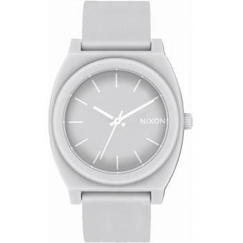NIXON  Time Teller P- A119-3012-00 , Grey case  with Grey Rubber Strap