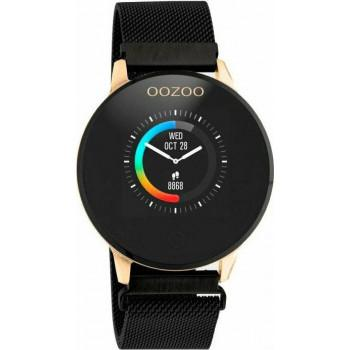 OOZOO Smartwatch -  Q00118,  Rose Gold case with Black Metal Strap