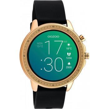 OOZOO Smartwatch -  Q00303, Rose Gold case with Black Rubber Strap