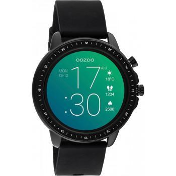 OOZOO Smartwatch -  Q00304,  Black case with Black Rubber Strap