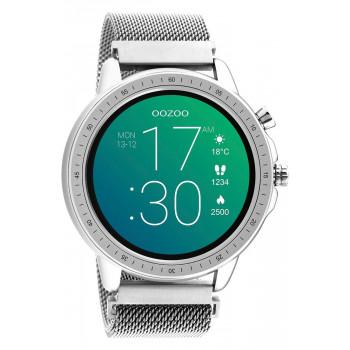 OOZOO Smartwatch -  Q00305,  Silver case with Silver Metal Strap