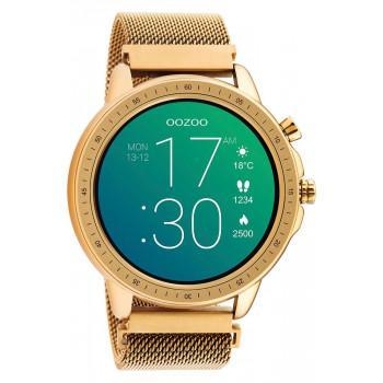 OOZOO Smartwatch - Q00307,  Rose Gold case with Rose Gold Metal Strap