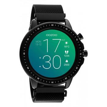 OOZOO Smartwatch - Q00309,  Black case with Black Metal Strap