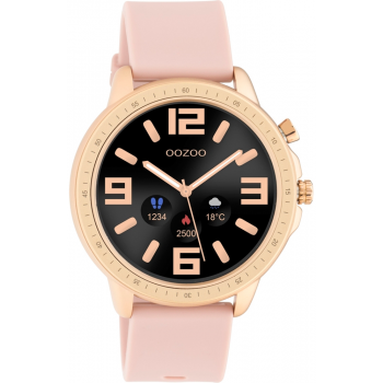 OOZOO Smartwatch -  Q00324,  Rose Gold case with Pink Rubber Strap