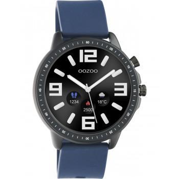 OOZOO Smartwatch -  Q00332,  Black case with Blue Rubber Strap
