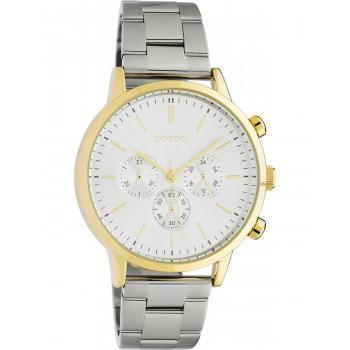 OOZOO Timepieces - C10561, Gold case with Stainless Steel Bracelet