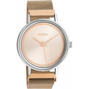 OOZOO Timepieces - C10682, Gold case with Stainless Steel Bracelet