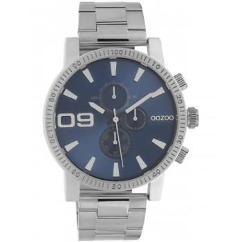 OOZOO Timepieces - C10705, Silver case with Stainless Steel Bracelet