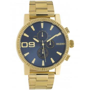 OOZOO Timepieces - C10707, Gold case with Stainless Steel Bracelet