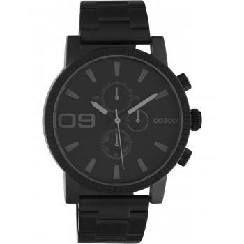 OOZOO Timepieces - C10709, Black case with Stainless Steel Bracelet