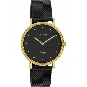 OOZOO Timepieces Vintage - C20058,  Gold case with Metal Strap